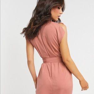 ASOS Dresses - ASOS design split cap sleeve wrap mini dress